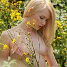 Carla Monaco with Yellow Flowers at the Foundry