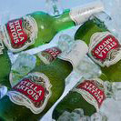 Stella Bottles on ice
